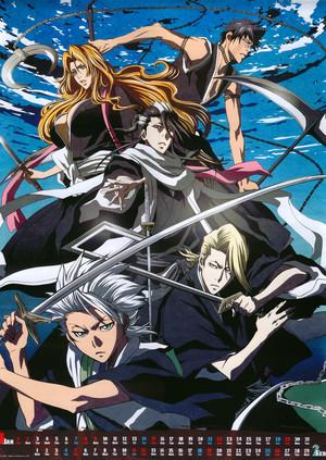Shuuhei Hisagi, Rangiku, Byakuya, Kira and Toushiro
