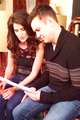 Cobie & Taran on set - how-i-met-your-mother photo