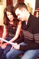 Cobie & Taran on set - how-i-met-your-mother photo