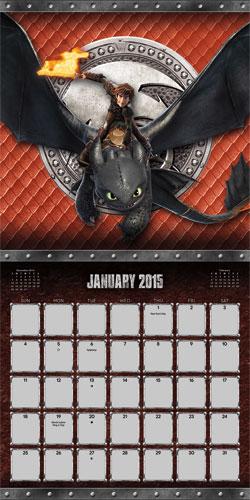 How To Train Your Dragon 2 2015 Calendar
