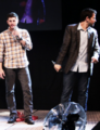 Misha and Jensen - JIB Con 2013 - jensen-ackles-and-misha-collins photo