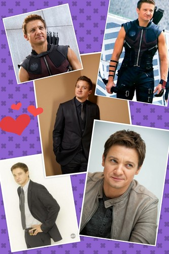 Jeremy Renner wallpaper possibly with a sign and a laptop titled collage of four images