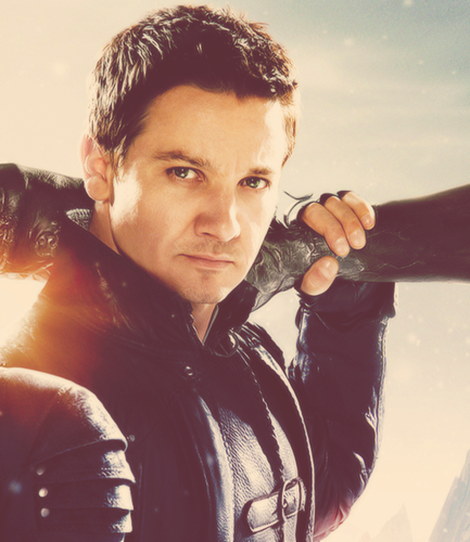 Jeremy Renner wallpaper containing a triceratops entitled Jeremy in hansel and gretel