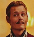 "Johnny on ""Mortdecai"" - Movie Set"