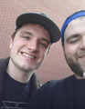 Josh w/ a fan today (02/07/14) - josh-hutcherson photo