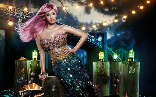 katy perry wallpaper possibly containing a jantar dress called Katy Perry mermaid