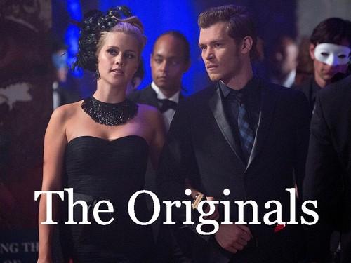 The Originals پیپر وال probably with a business suit, a suit, and a dress suit entitled Klaus & Rebekah