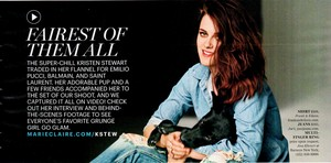 Scans of Kristen for Marie Claire