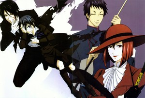 Lau, Ciel, Sebastian and Mrs Red