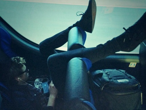 Luke Hemmings wallpaper called Resting in the bus