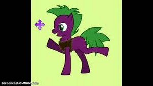 Spike mlp as a пони