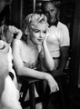 Marilyn On A Movie Set - marilyn-monroe photo