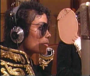 "During The Recording Of ""We Are The World """
