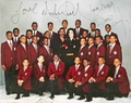 An Autographed Picture Of Michael With Eddie Murphy And The Boys Choir Of Harlem - michael-jackson photo
