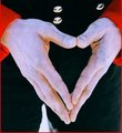 LOVE - MJ making a heart shape with his hands (1992) - michael-jackson photo