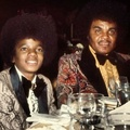 Michael And His Father, Joseph At The 1973 Golden Globe Awards - michael-jackson photo
