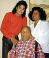 MJ with his grandpa and mother - michael-jackson photo
