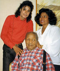 MJ with his grandpa and mother