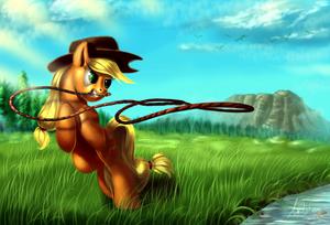 applejack in the Farm