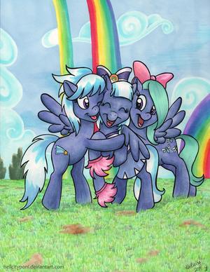 彩虹 Falls Sisters