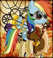 Steampunk Ponies - RainbowDash