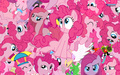 Pinkie Pie Collage Wallpaper - my-little-pony-friendship-is-magic wallpaper