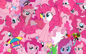 Pinkie Pie Collage kertas dinding