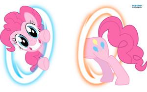 Pinkie Portal wolpeyper