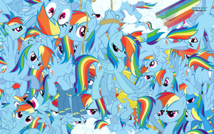 pelangi, rainbow Dash Collage kertas dinding