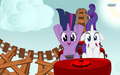 Twilight and Rarity Wallpaper - my-little-pony-friendship-is-magic wallpaper