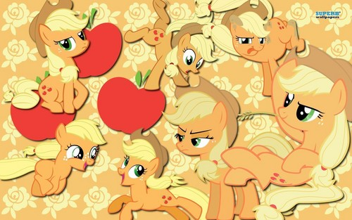 My Little Pony Friendship is Magic wallpaper called Applejack Collage Wallpaper