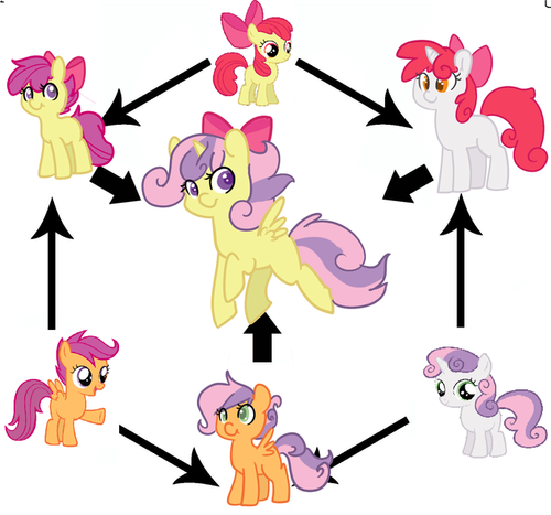 Pony Friendship Magic Gambar Cutie Mark Crusaders Wallpaper Called Fusion