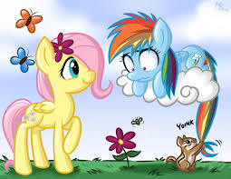 arco iris Dash/Fluttershy fillies :3