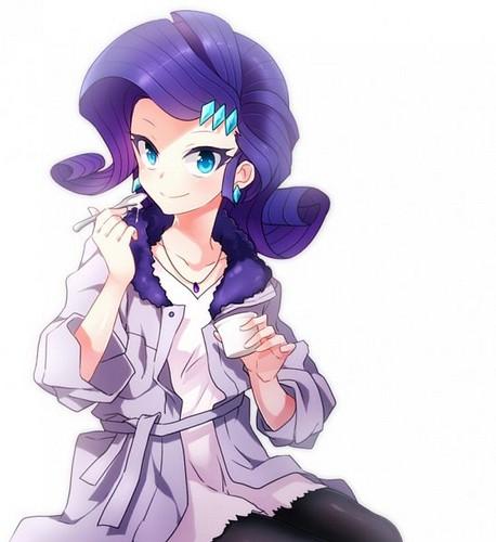 My Little kuda, kuda kecil Friendship is Magic kertas dinding with Anime titled Rarity Human