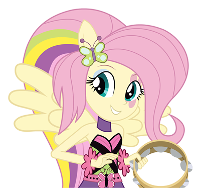 My Little Pony Friendship is Magic wallpaper probably containing anime called Rainbow Rocks Fluttershy