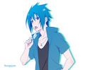 Sasuke And The Ice-cream.. - naruto-shippuuden-sasuke-lovers fan art