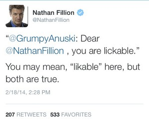Nathan's twitter(February,2014)