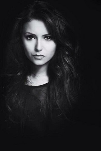Nina Dobrev wallpaper titled Nina black and white
