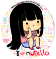chibi girl nutella---------------♥