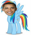 Obama Dash! - rainbow-dash fan art