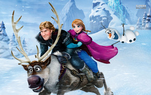 Kristoff,Anna ,Olaf and Sven