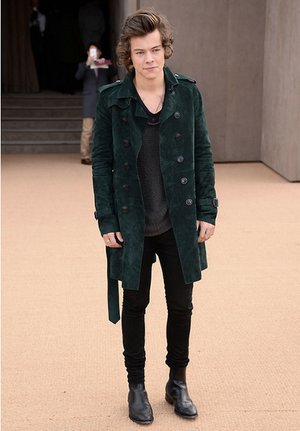 Harry at burberry Fashon montrer