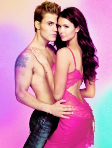 Paul Wesley and Nina Dobrev wallpaper called Paul and Nina