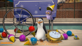 Kowalski Eating Snow Cone - penguins-of-madagascar photo