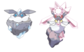 Carbink and Diancie - pokemon photo