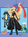 Cynthia and Her Team! - pokemon-champion-cynthia fan art