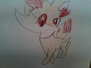 Fennekin from pokemon X and Y