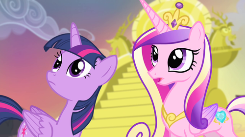 Princess Cadence wolpeyper containing anime titled Princess Cadance and Twilight