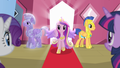 Cadance gets off the train
