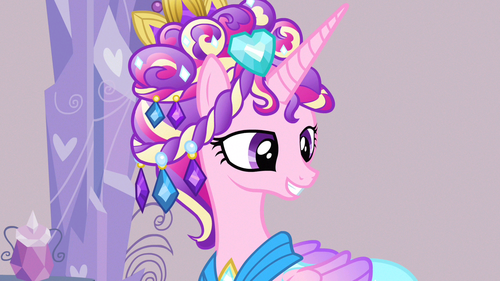 Princess Cadence fondo de pantalla titled Cadance pleased smile